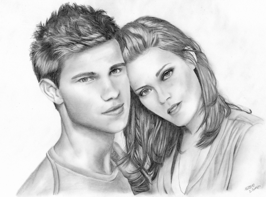 Taylor Lautner, Kristen Stewart by Reikasan